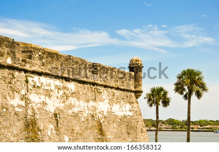 historical castillo de san marcos at saint augustine, florida - stock photo