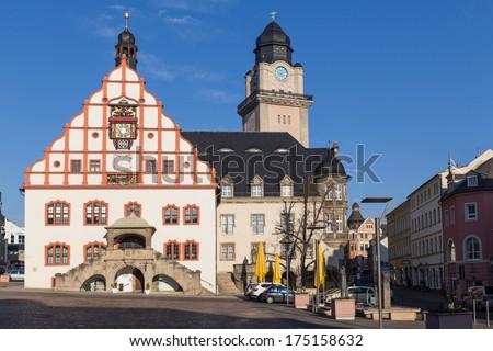 Historical centre of Plauen, Saxony, Germany - stock photo