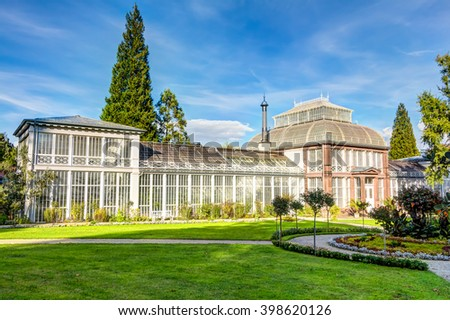 Historical conservatory located in Kassel Wilhelmshohe, Germany - stock photo
