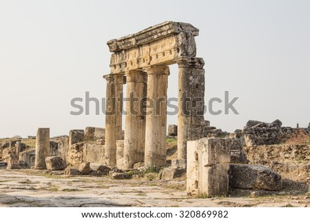 historical heritage,ancient city,Turkey landmark,archaeological finds,historical monuments,a journey in antiquity,the architectural past - stock photo