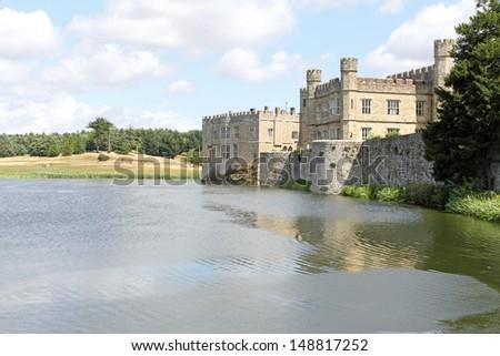 Historical Leeds Castle UK - stock photo