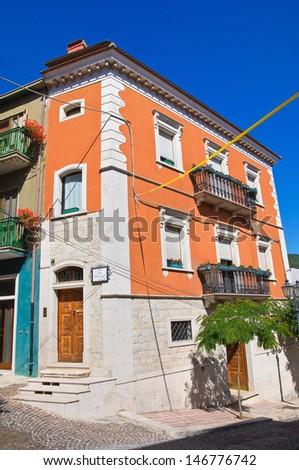 Historical palace. Alberona. Puglia. Italy. - stock photo