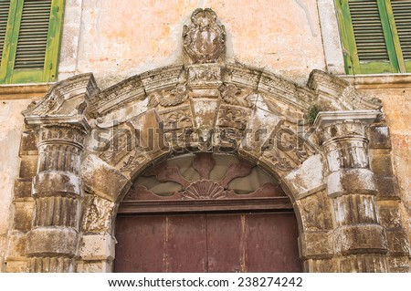 Historical palace. Altamura. Puglia. Italy. - stock photo