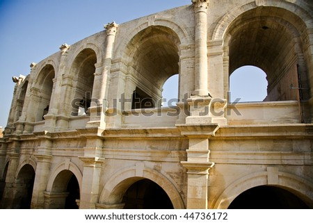 Historical Roman Arena in Arles, Provence, France - stock photo