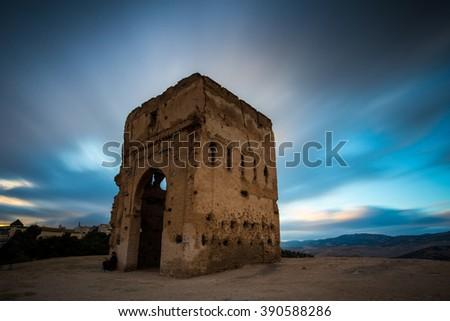 Historical ruin, Fes, Morocco - stock photo