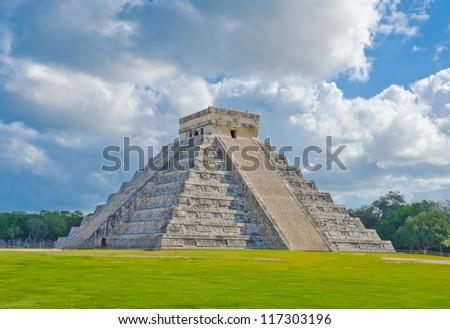 Historical ruins, pyramid of ancient civilization of Maya. Tulum, Mexico. - stock photo
