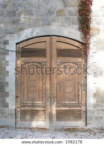 Historical wooden doors