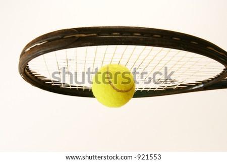 Hit the Tennis Ball - stock photo