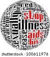 HIV AIDS term info-text graphics and arrangement with circle shape concept - stock
