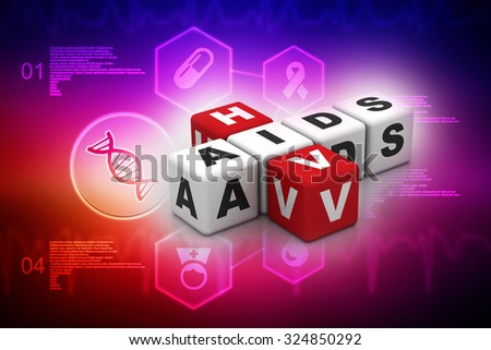 HIV and AIDS puzzle crossword - stock photo