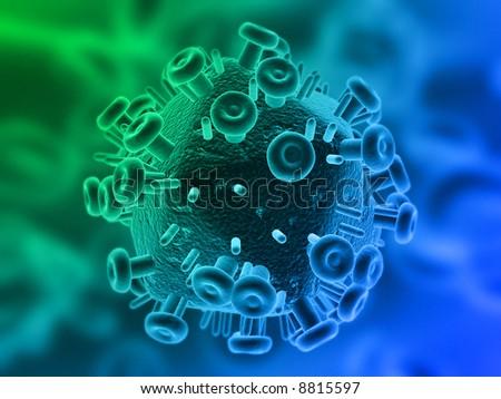 hiv illustration - stock photo
