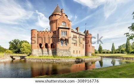 Hjularod slott is a castle in Eslov Municipality, Scania, in southern Sweden. - stock photo