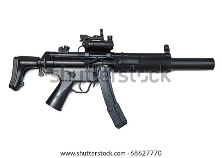 Hk MP5 SD6 with silencer Special Weapon - stock photo
