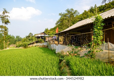 Hmong's house in Sapa, Vietnam