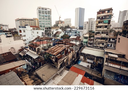 Ho Chi Minh city or Saigon, Vietnam - stock photo