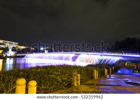 HO CHI MINH CITY, VIET NAM - DEC 09, 2016: Starlight bridge in district 7, Sai Gon, Viet Nam