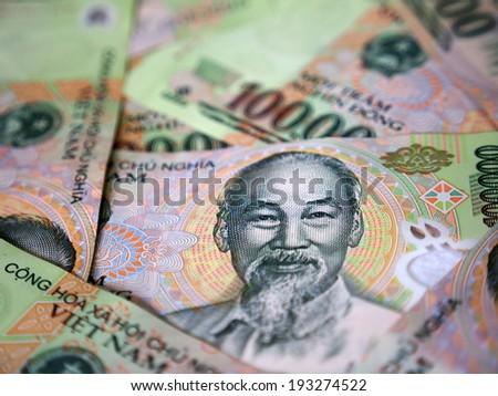 Ho Chi Minh of Vietnamese Banknote - stock photo