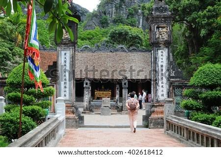Hoa Lu, Vietnam - Jun, 08: People in Hoa Lu on June, 08, 2015. Hoa Lu, Vietnam