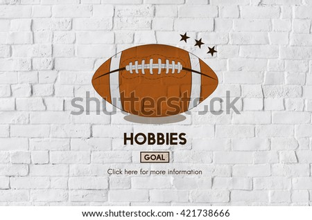 Hobbies Football Ball Rugby Game Concept - stock photo