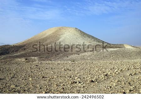 Hod Akev mount in Negev desert, Israel                                - stock photo