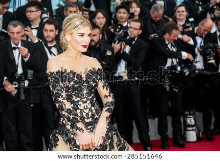 Hofit Golan attends the opening ceremony and premiere of 'La Tete Haute ('Standing Tall') during the 68th annual Cannes Film Festival on May 13, 2015 in Cannes, France. - stock photo
