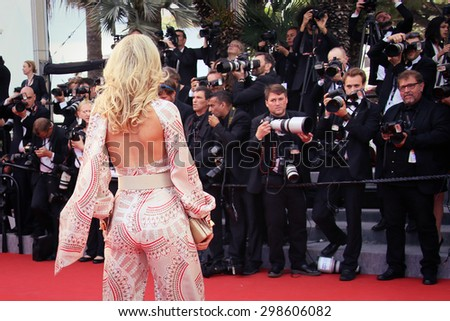 Hofit Golan attends the Premiere of 'Irrational Man' during the 68th annual Cannes Film Festival on May 15, 2015 in Cannes, France. - stock photo