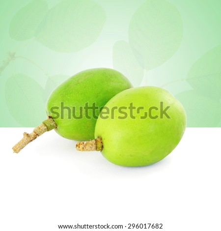hog plum or ambada indian pickles plum - stock photo