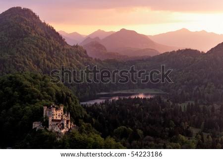 Hohenschwangau Castle, Bavaria, Germany. - stock photo
