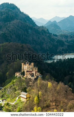 Hohenschwangau Castle in Bavaria, Germany - stock photo