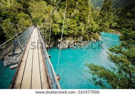 Hokitika Gorge, Hokitika, New Zealand - stock photo