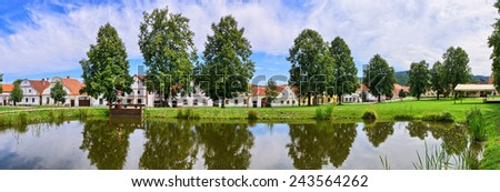 Holasovice in Czech Republic - old village on UNESCO heritage list - stock photo