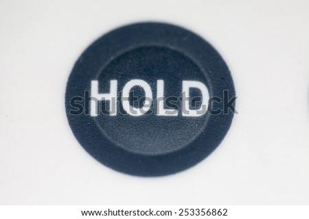 hold button - stock photo