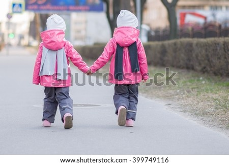 Hold hands - stock photo