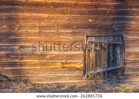 hold wooden barn wall - stock photo