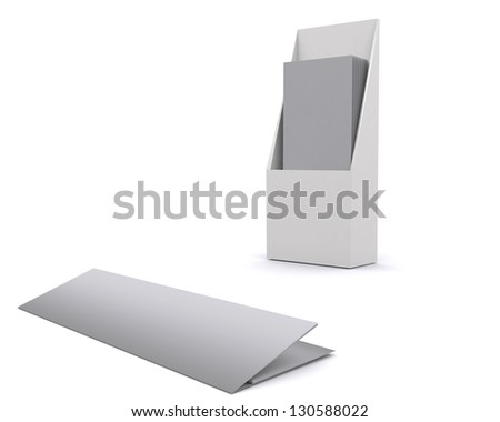 Paper holder stock images royalty free images vectors for Cardboard brochure holder template