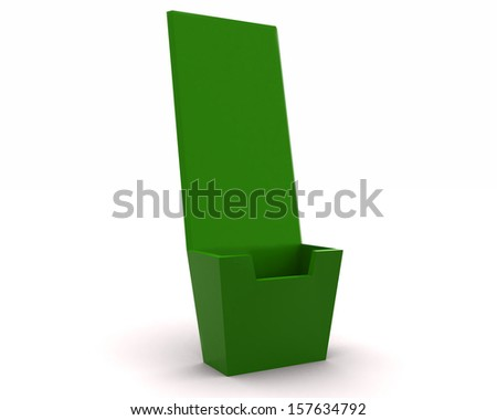 Holder template for designers - green render 3d - stock photo