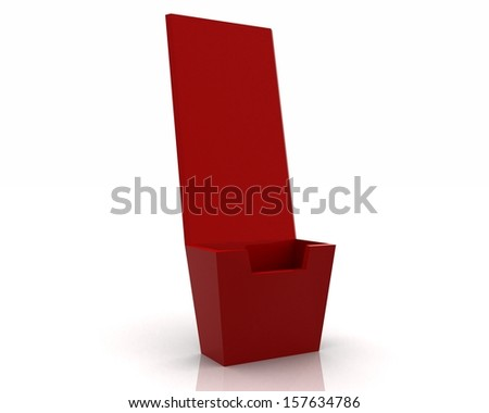 Holder template for designers - red render 3d - stock photo