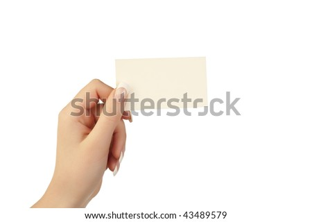 holding a card in hand - stock photo