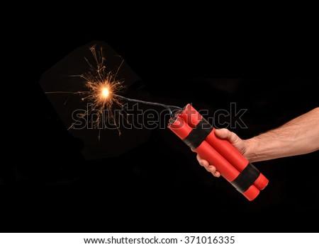 Holding Dynamite Stick...