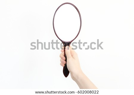 Hand Mirror Stock Images Royalty Free Images Vectors