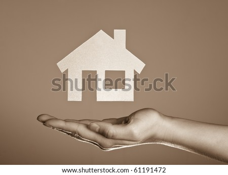 Holding Real-estate - stock photo