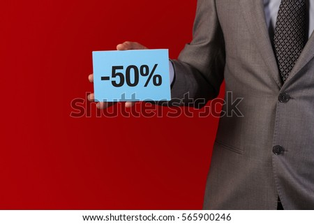 holding sale card