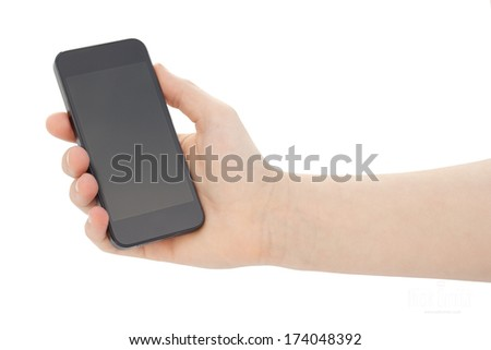 holding smart phone mobile touch screen phone