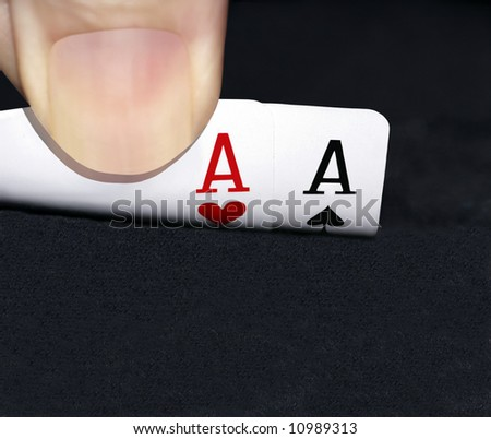 Holding the aces - stock photo