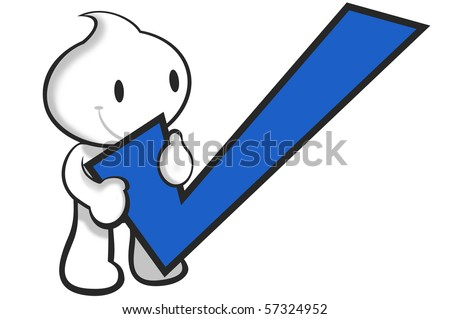 holding the positive symbol. - stock photo