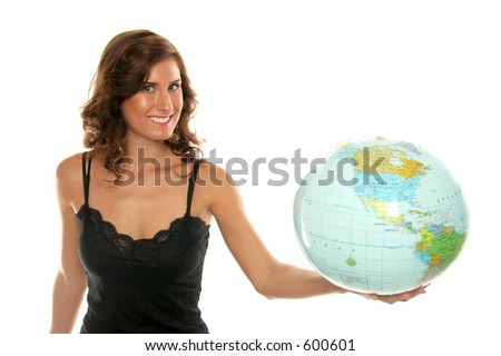 Holding up the world in her hand