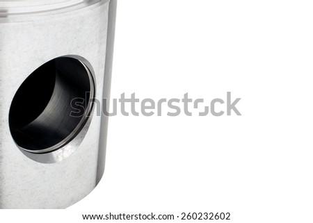 Hole of the piston - stock photo