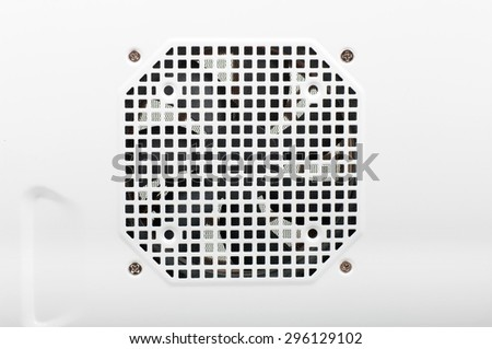 holes for the fan close up - stock photo