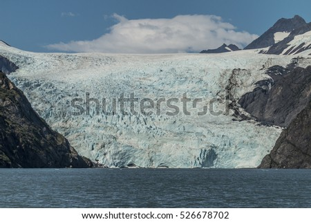 Holgate Glacier in Kenai Fjords National Park, Alaska.