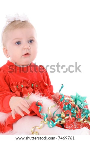Holiday Baby - stock photo